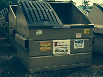 Cottonwood Arizona and Sedona Arizona Commercial Dumpster hauling